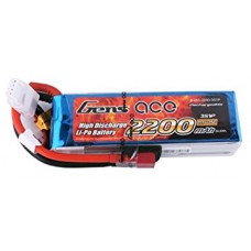 Gens ACE 2200Mah 45C 3S1P 11.1V Lipo Battery