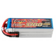 Gens ACE 3700Mah 60C 6S1P 22.2V Lipo Battery