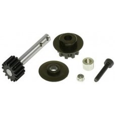 GAUI X5 Front Pulley Set and Pulley Shaft with Steel Gear(15T)