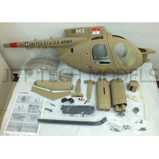 FUNKEY SCALE FUSELAGE HUGHES 500MD TOW DEFENDER.50(600) SIZE ARMY DESERT COLOR